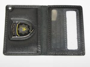 Кожгалантерея, Обложка для удостоверения работников МВД с пластиковым шевроном