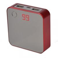 Портативные зарядные устройства, Внешнее зарядное устройство Power Bank DOCA D525 (8400mAh), красный