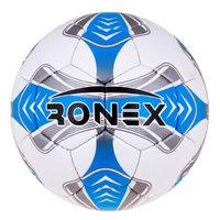 Мяч футбольный Grippy Ronex EGEO blue/silver