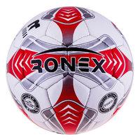 Мяч футбольный Grippy Ronex EGEO red/silver