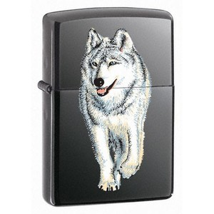 Зажигалки Zippo, Зажигалка Zippo Wolf Black Ice