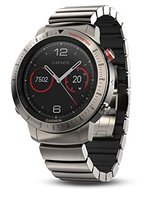 Garmin Fenix 3 Chronos Titanium with Brushed Titanium Hybrid Watch Band