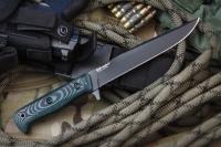 Kizlyar Supreme KE INT4BM Нож туристический Intruder (микарта) черный 440C, Kizlyar Supreme