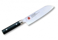 KASUMI Нож кухонный Японский шеф Сантоку 130 мм, Дамаск