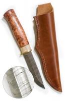 Нож Karesuandokniven Baver Damask 8 Ножны в комплекте