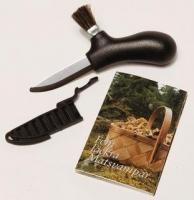 Нож MORA Karl-Johan Mushroom, черный, нержавеющая сталь, в коробке