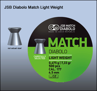 Пули JSB Match Diabolo light 4.52мм, 0.475г