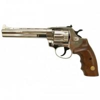 Револьвер флобера Alfa 461 никель, дерево