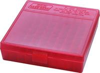 Коробка MTM кал. 45 ACP; 10мм Auto; 40 S&W red
