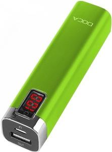 Портативные зарядные устройства, Внешнее зарядное устройство Power Bank DOCA D516 (2600mAh), зеленый