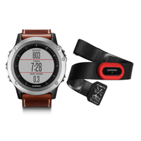 Garmin Fenix 3 Sapphire Performer Bundle Silver with Leather Bandle