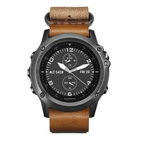 Garmin Fenix 3 Sapphire Gray with Leather and Nylon Straps