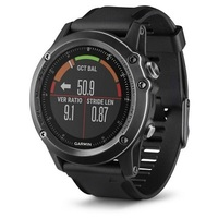 Garmin Fenix 3 Sapphire HR Gray Performer Bundle with black silicone band