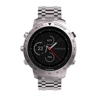 Garmin Fenix Chronos Steel with Brushed Stainless Steel Watch Bandle