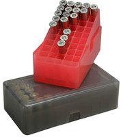 Кейс для патронов MTM E-50 на 50 патронов кал 9мм; 38 Spec красный