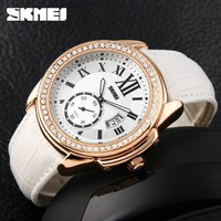 Часы Skmei 1147 Gold Case White Band BOX