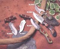 K4M6Нож разделочный в кожаном чехле, рукоятка деревянная