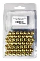Шарики для рогатки Шаровая молния 9,5 мм стальной, 50шт/упак (золотой)