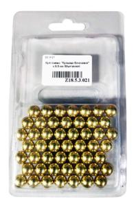 Шарики для рогатки, Шарики для рогатки Шаровая молния 9,5 мм стальной, 50шт/упак (золотой)