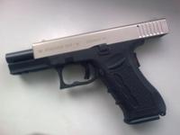 Пистолет стартовый Stalker 917 хром/титан