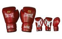Перчатки для бокса, Перчатки боксерские PVC ЮНИОР 0033-R MATSA 12oz