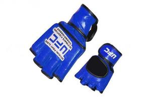 Перчатки для рукопашного боя и смешанных единоборств ММА, Перчатки для смешанных единоборств MMA Кожа MATSA Синий M