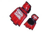 Перчатки для рукопашного боя и смешанных единоборств ММА, Перчатки для смешанных единоборств MMA Кожа MATSA Красные M