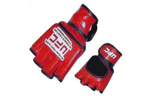 Перчатки для рукопашного боя и смешанных единоборств ММА, Перчатки для смешанных единоборств MMA Кожа MATSA Красные XL