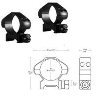 Крепления для прицелов, Аксессуары Hawke Кольца Precision 30mm/Weaver/Medium