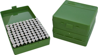 Коробка MTM кал. 45 ACP; 10мм Auto; 40 S&W green