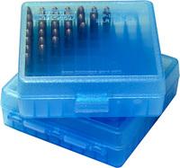 Коробка MTM кал. 45 ACP; 10мм Auto; 40 S&W blue