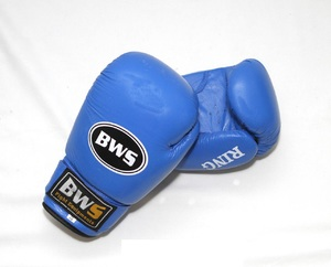 Перчатки для бокса, Перчатки боксерские кожа Bws Ring 10oz