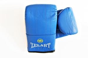 Снарядные перчатки и битки, Перчатки снарядные кожа Zelart Blue XL