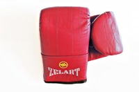 Снарядные перчатки и битки, Перчатки снарядные кожа Zelart Red XL