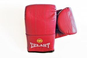 Снарядные перчатки и битки, Перчатки снарядные кожа Zelart Red M
