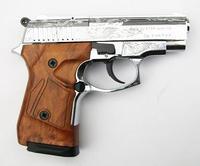 Пистолет стартовый Stalker 914 блестяще хромированное с гравировкой