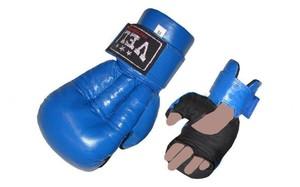 Перчатки для рукопашного боя и смешанных единоборств ММА, Перчатки для рукопашного боя Кожа VELO Синий L