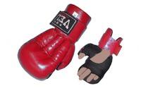 Перчатки для рукопашного боя Кожа VELO Красный XL