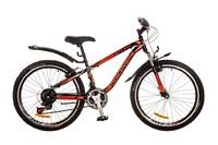 """Велосипеды Discovery, Велосипед Discovery FLINT AM 14G DD 24"""" St черно-оранжево-красный 2017"""
