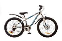 """Велосипеды Discovery, Велосипед Discovery FLINT AM 14G DD 24"""" St бело-сине-черный 2017"""