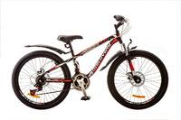 """Велосипед Discovery FLINT AM 14G DD 24"""" St черно-бело-красный 2017"""