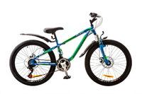 "Велосипед Discovery FLINT AM 14G DD 24"" St сине-зелено-белый 2017"