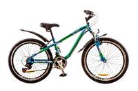 "Велосипед Discovery FLINT AM 14G Vbr 24"" St сине-зелено-белый 2017"