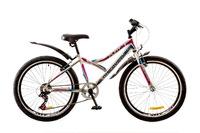 """Велосипед Discovery FLINT 14G Vbr 24"""" St бело-сине-розовый 2017"""