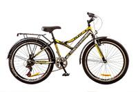 "Велосипед Discovery FLINT 14G Vbr 24"" St черно-бело-желтый 2017"