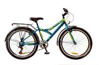 """Велосипед Discovery FLINT 14G Vbr 24"""" St сине-черно-зеленый 2017"""