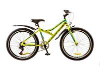"""Велосипед Discovery FLINT 14G Vbr 24"""" St зелено-серо-голубой с крылом 2017"""