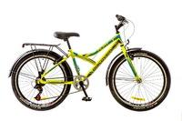 "Велосипед Discovery FLINT 14G Vbr 24"" St зелено-серо-голубой 2017"