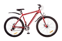 """Велосипеды Discovery, Велосипед Discovery TREK AM 14G Vbr 29"""" рама-21"""" St красно-черно-белый с крылом Pl 2017"""