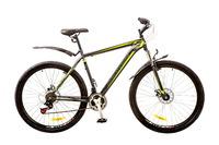 """Велосипеды Discovery, Велосипед Discovery TREK AM 14G Vbr 29"""" рама-21"""" St серо-черно-зеленый с крылом Pl 2017"""